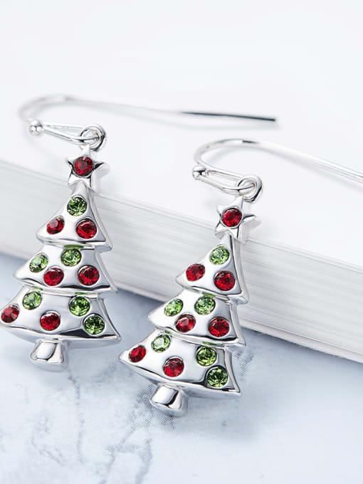 Maja Tree-shaped Crystal hook earring