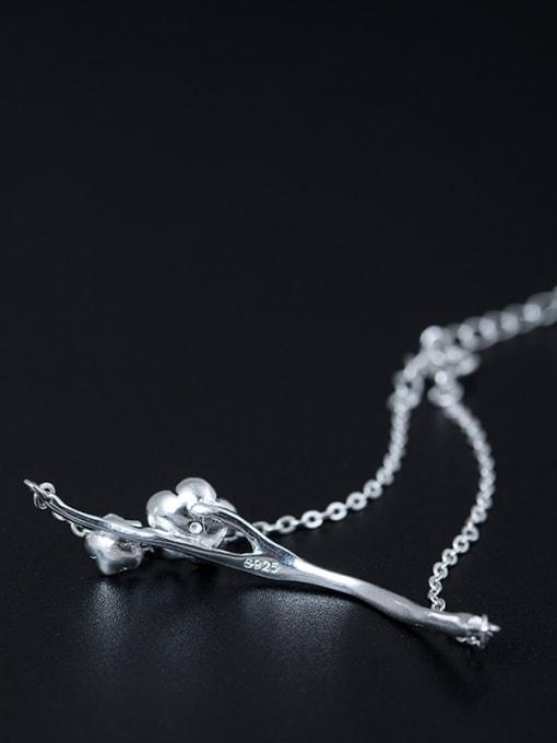 Christian Retro style Little Flowers 925 Silver Women Bracelet