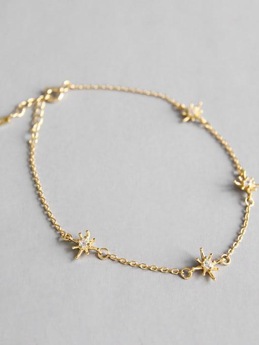 Dark Phoenix 925 Sterling Silver With 18k Gold Plated Fashion Flower Bracelets