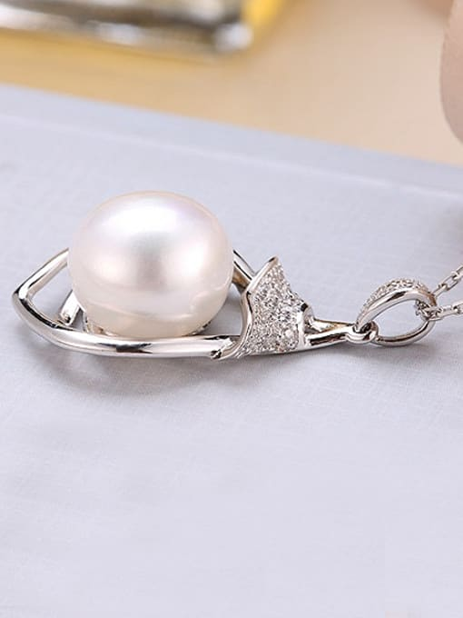 Evita Peroni Fashion Freshwater Pearl Heart-shaped Necklace