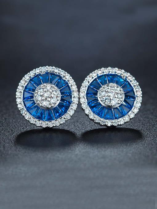Chris Blue Flower Cluster earring
