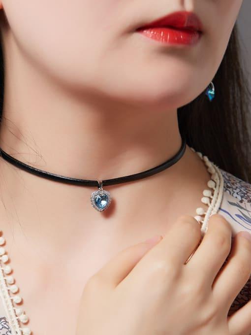 Maja S925 Silver Leather Collar
