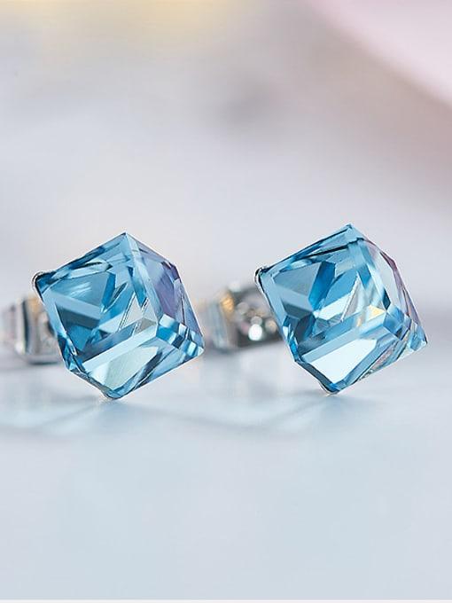 Maja 2018 Blue Swarovski Crystal stud Earring