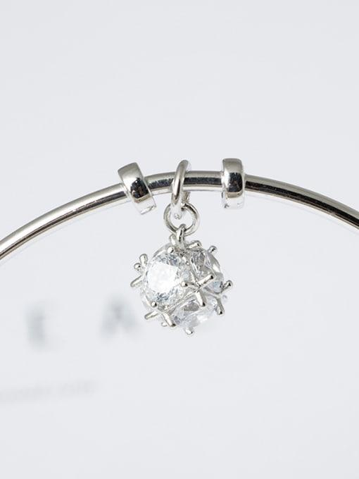 Christian Fashion Elegant Shiny Zirconias 925 Silver Opening Bangle