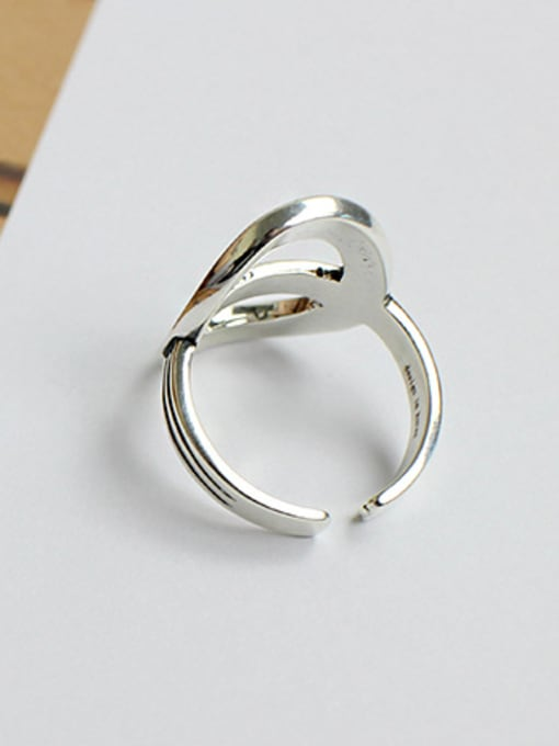 Arya Retro style Personalized Hollow Oval Silver Opening Ring
