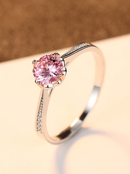 CCUI Pure silver color Zricon fashion wedding ring