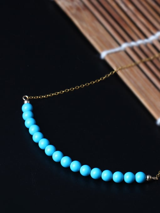 Christian Handmade Fashion Blue Turquoise Necklace