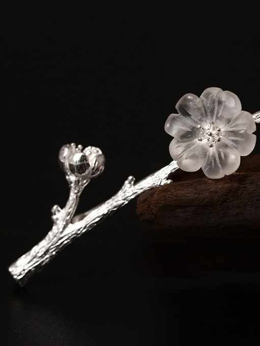 Christian Crystal Plum Blossom Brooch Accessories