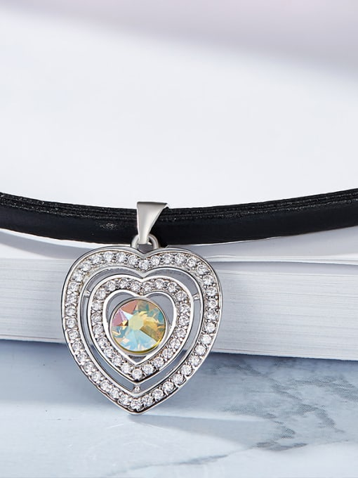 Maja S925 Silver Heart-shaped Collar