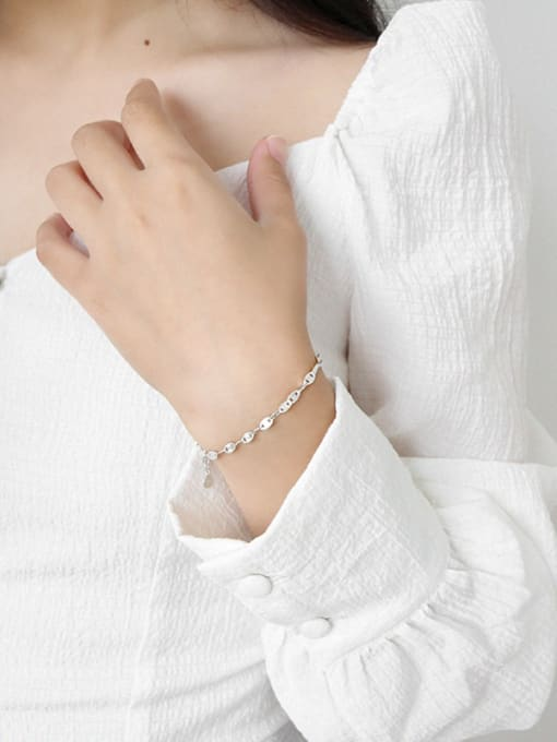 Arya 925 Sterling Silver With Platinum Plated Fashion Bracelets