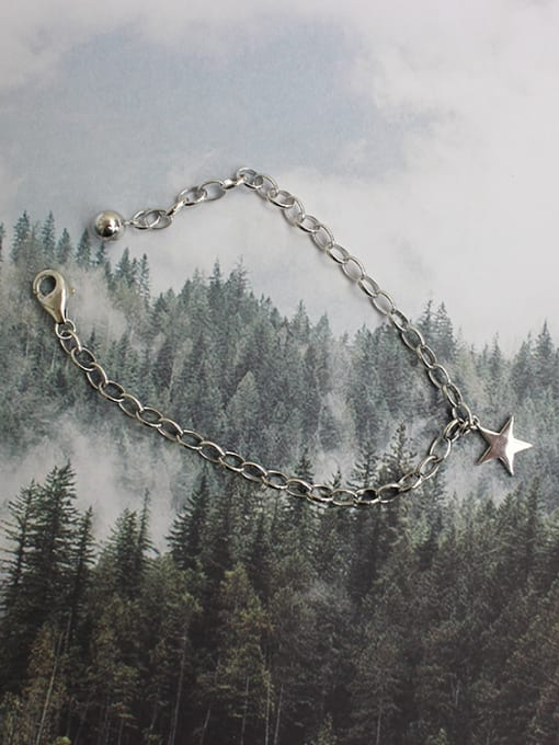 Arya Simple Little Star Silver Women Bracelet