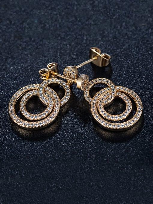Armadani Number Zircon Chandelier earring