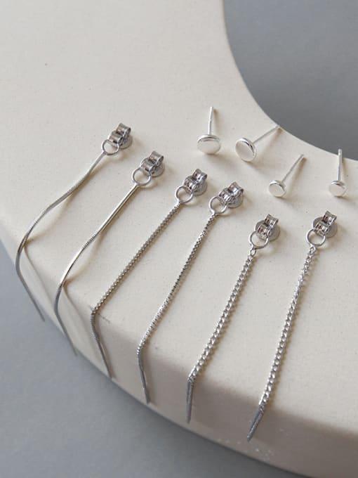 Arya Sterling silver simple ear wire