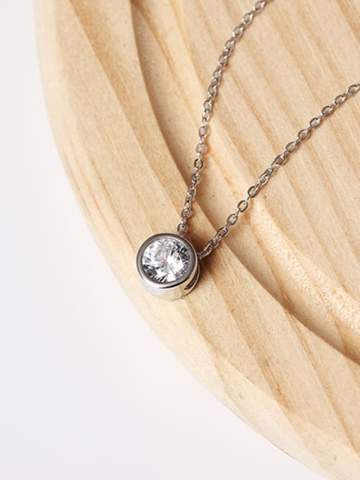 Christian Zircons Simple Style Clavicle Necklace