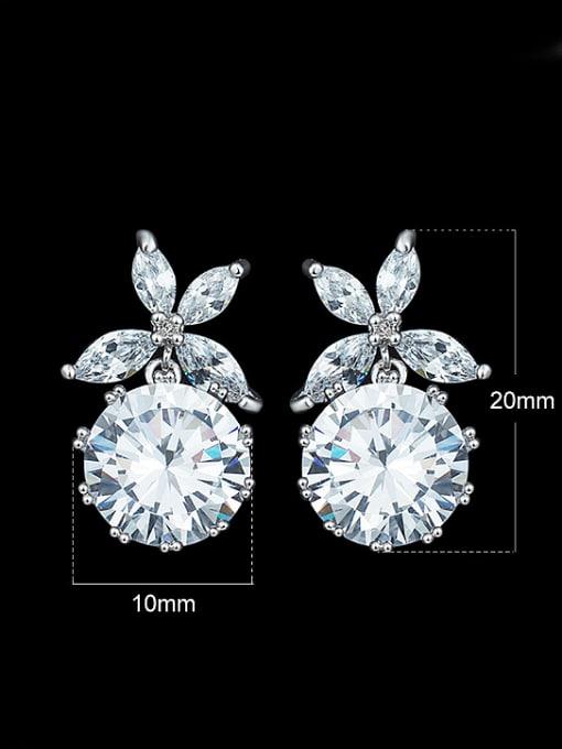 Armadani Simple Shiny Zircon Stud Earrings