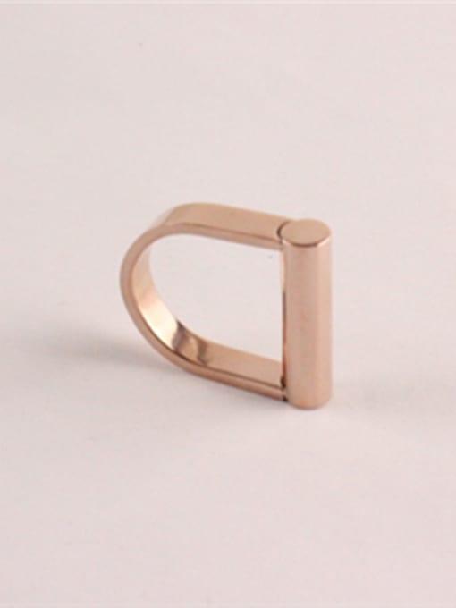 Rose D Shape Fashion Titanium Ring