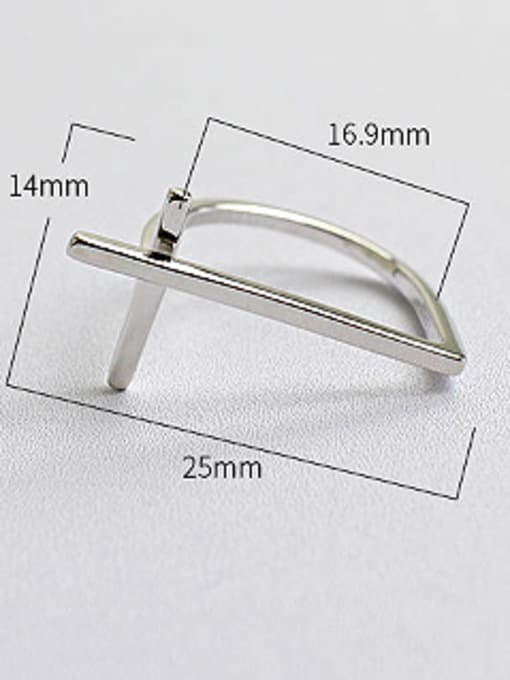 Arya Personalized Simple Cross Silver Ring