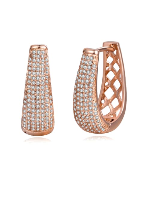 Armadani Copper inlaid AAA zircons with delicate glistening studs
