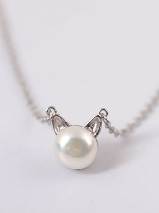 Christian Exquisite S925 Silver Lovely Cat Clavicle Necklace