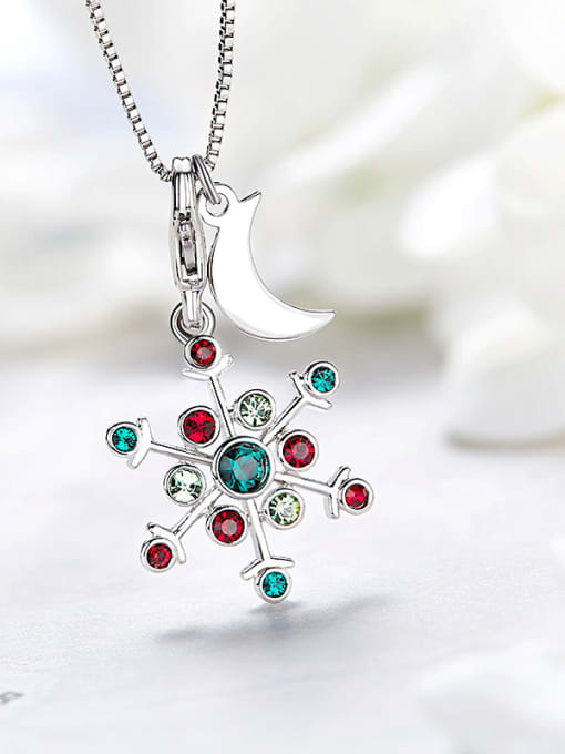 Maja Snowflake Shaped Multi-color Crystal Necklace