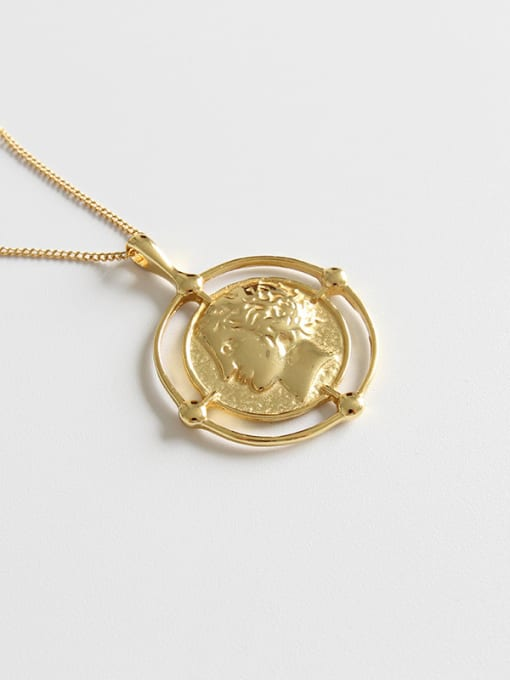 Dark Phoenix 925 Sterling Silver With 18k Gold Plated Trendy Face Necklaces