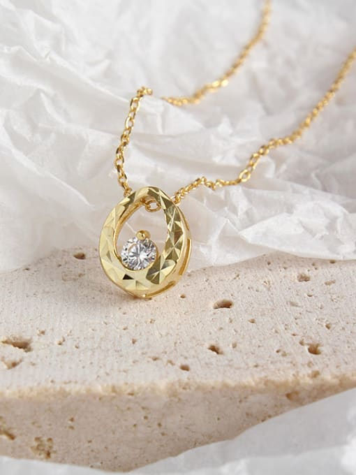 Dark Phoenix 925 Sterling Silver With 18k Gold Plated  Water Drop Necklaces