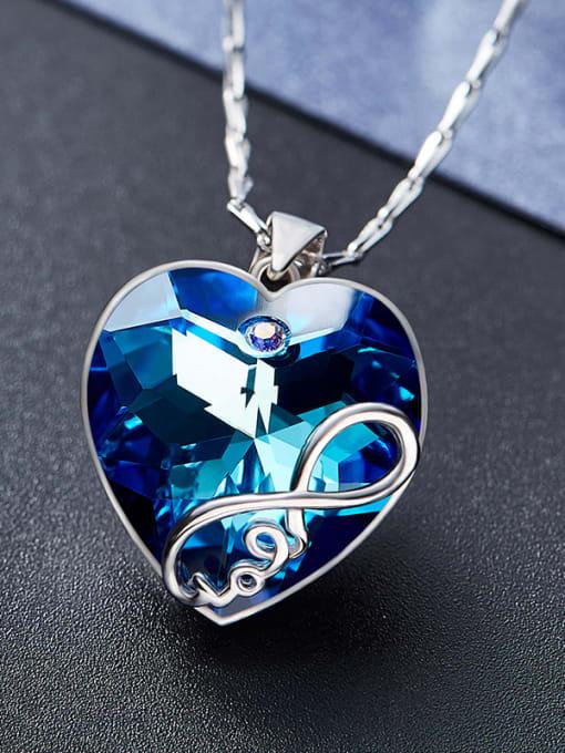 Maja S925 Silver Heart Shaped Necklace