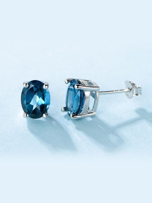 Chris Blue Zircon stud Earring