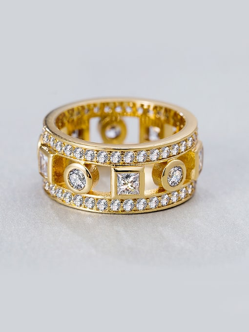 Chris Gold Plated Zircon band ring