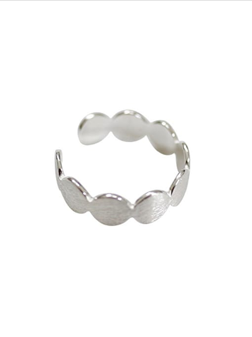 Arya Simple Round Silver Smooth Opening Ring