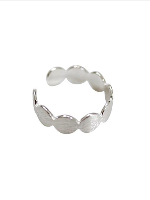 Arya Simple Round Silver Smooth Opening Ring