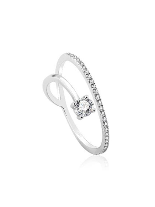 OUXI Simple Cubic Zirconias Women Ring