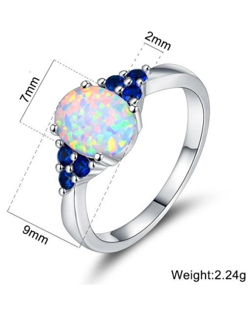 Chris Copper inlay color zirconium opal vintage ring