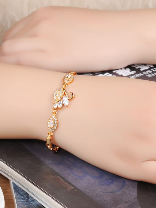 Tong Copper With 18k Gold Plated Delicate Animal cygnus Bracelets