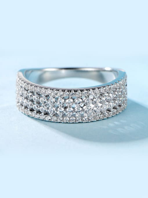 Chris Geometric Zircon band ring