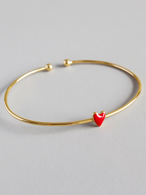 Dark Phoenix Pure silver Fashion Red Epoxy Love Gold Plated Bracelet