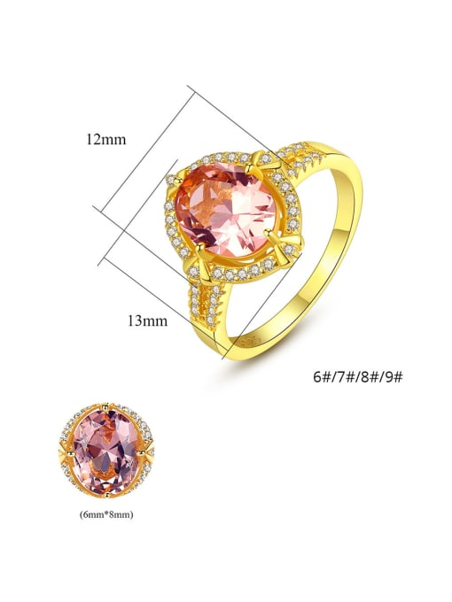 CCUI 925 Sterling Silver  Cubic Zirconia Delicate Oval Solitaire Rings