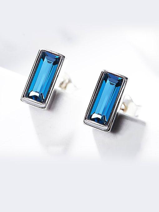 Maja Square Shaped Crystal stud Earring