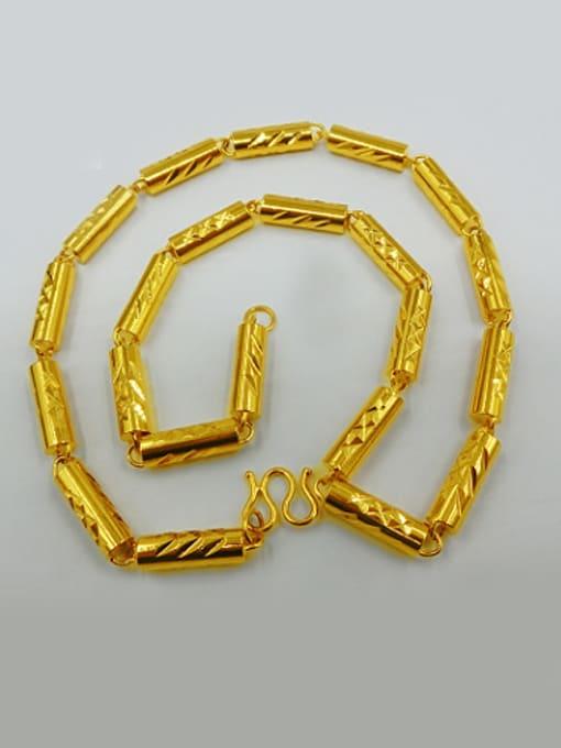 Neayou Men Exquisite Cylinder Shaped Necklace