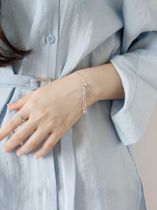 Arya Sterling silver love heart adjustable bracelet