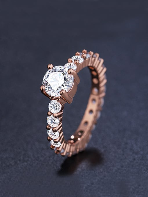 Armadani Rose Gold Plated Cubic Zircon Ring
