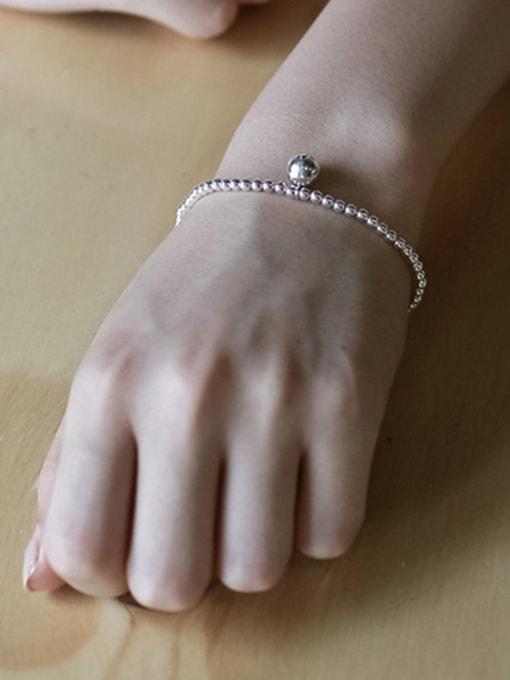 Arya Simple Little Beads Silver Women Bracelet