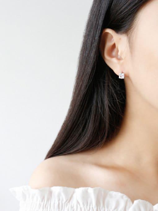 Arya 925 Sterling Silver Cubic Zirconia Classic Geometric Earrings