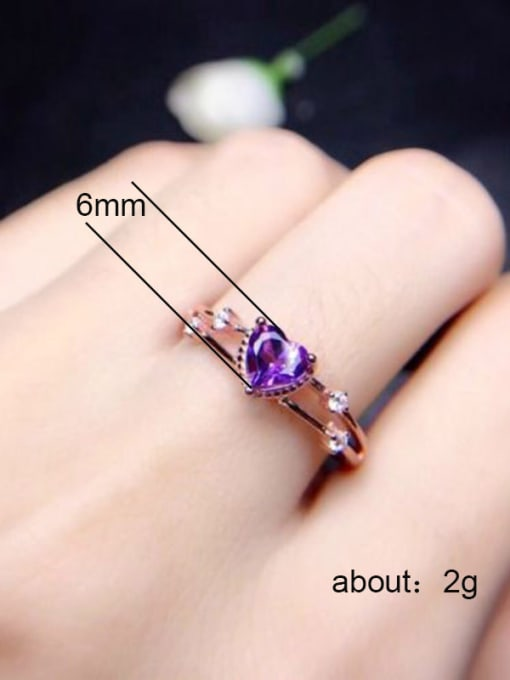 C Zricon Copper With Rose Gold Plated Cute Heart Cubic Zirconia Engagement Rings