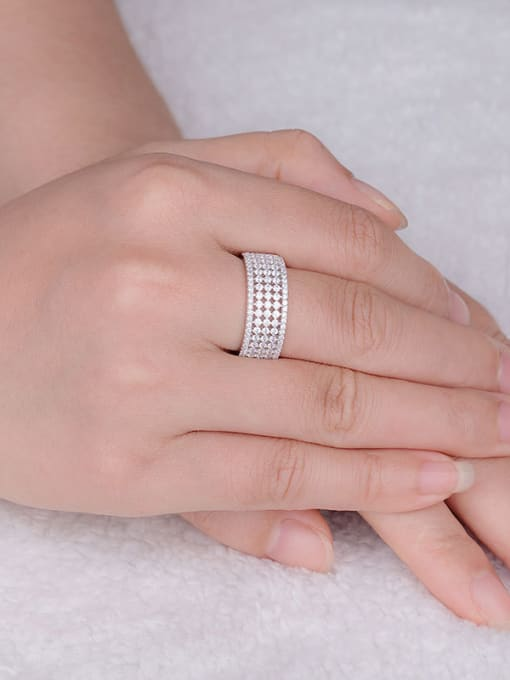 Chris Women 925 Silver band ring