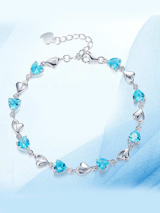 Maja 925 Silver Heart-shapedBracelet