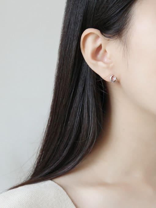 Dark Phoenix 925 Sterling Silver With 18k Gold Plated Simplistic Star Stud Earrings