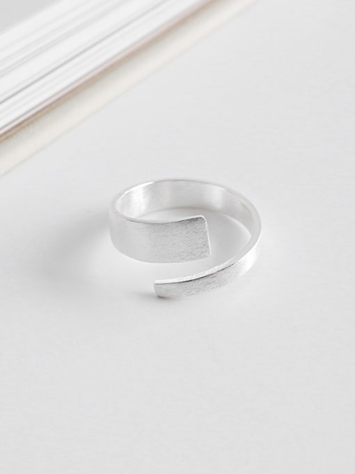 Ying 925 Sterling Silver With Silver Plated Personality Wrong side Free Size Rings