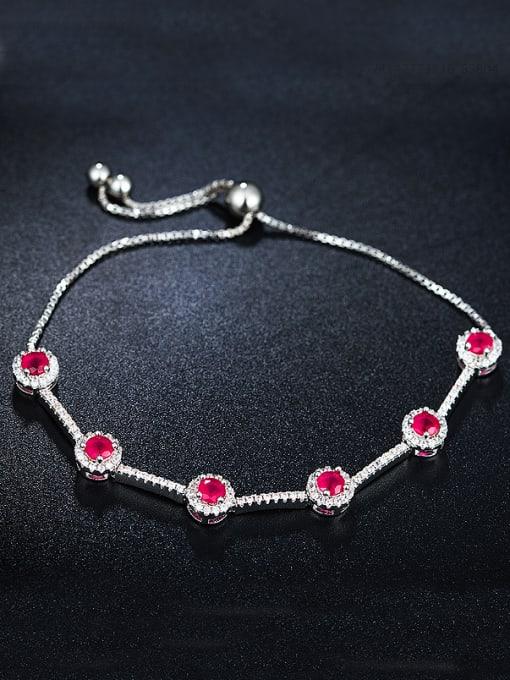 Chris Pink Zircon Bracelet