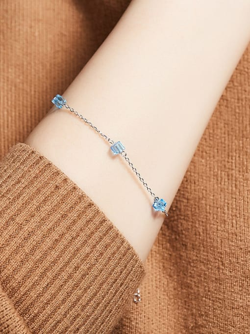 Maja S925  Silver Water Drop-shaped Bracelet